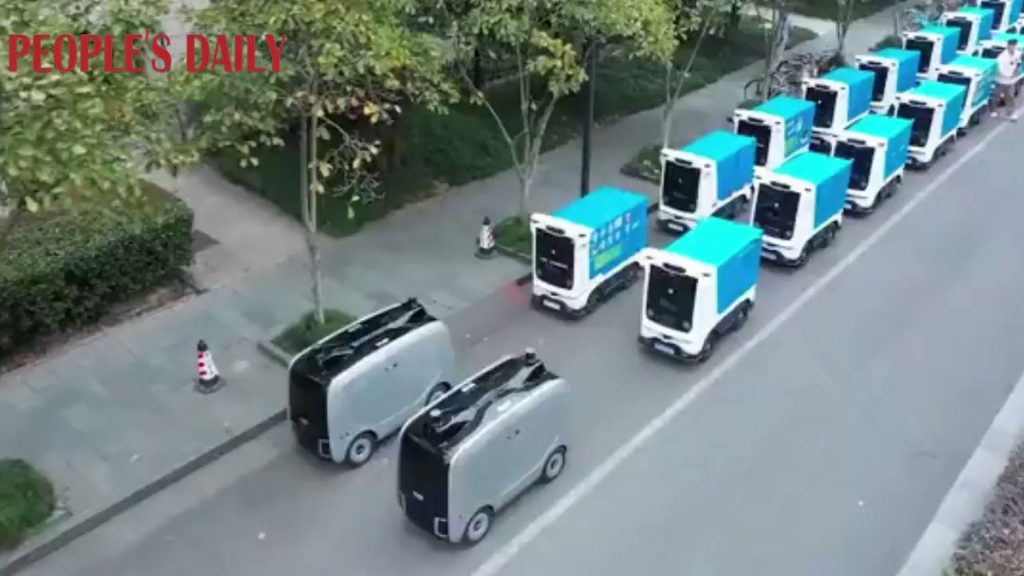 A total of 22 logistics robots have been launched at Zhejiang University