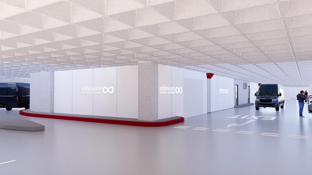 Infinium Logistics Solutions Transforming Canary Wharf Car Park into Hyperlocal Logistics Centre.